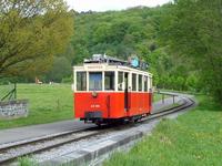 SNCV Gand-Destelbergen motor car on Rue du Grand Hy, Han-sur-Lesse