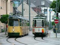 MAN GT8 and Esslingen GT4 Trams