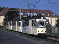 Gotha motor+trailer+trailer tram at Dornburger Strasse