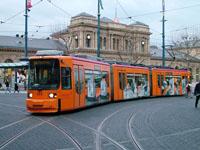 Adtranz GT6M-ZR tram at Hauptbahnhof