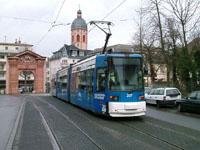 Adtranz GT6M-ZR tram at Gautor