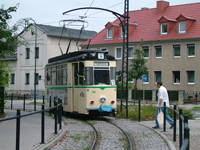 Raw Sw/LEW TZ70/1 tram on Jagerstrasse