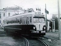 MTV-82 tram near the Palace of Culture, Lenina Ul.