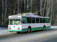 VMZ-5298 trolleybus on Turgoyaksoe Shosse, near Lepeshkovaya Gora