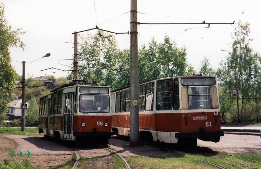 ЛМ-93 вагон 59 слева. Маршрут