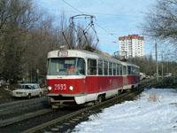 Tatra T-3 train at 15-y Mikrorayon