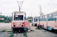 Abandoned KTM-5M3 trams at the Depot