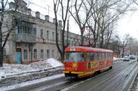 Tatra T-3 tram on Mozhayskogo St.