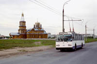 ZIU-682V trolleybus on Aviastroiteley Pr. in Noviy Gorod
