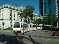Siemens SD100 LRVs at Stout / 19 St